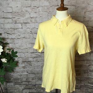 DKNY Coton Blend Eggshell Yellow Shirt